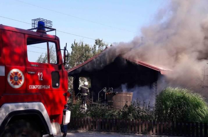 Пожар в Попаснянском районе Луганщины