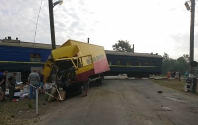 поезд грузовик ДТП