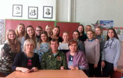 Встреча с боевиками в школе Дебальцево