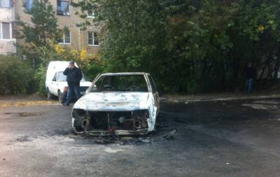 Макеевка сгорело авто