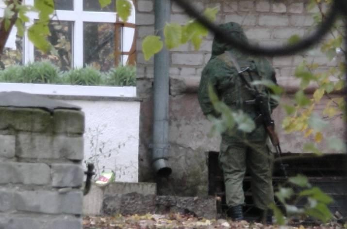 Боевики в центре Луганска