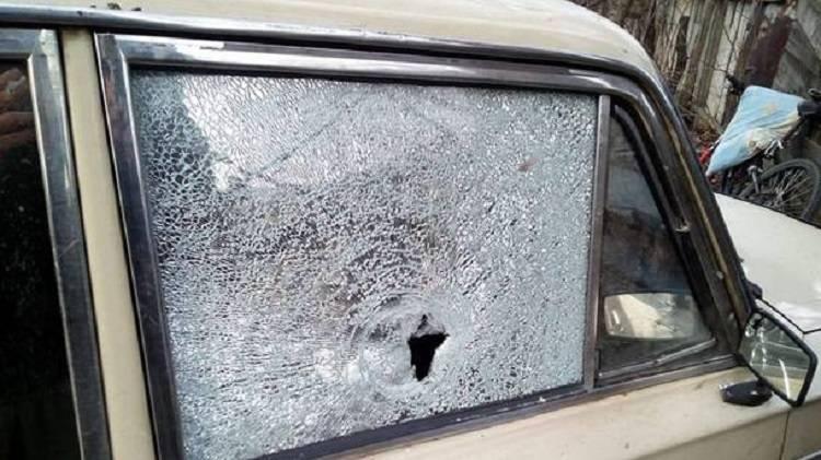 Расстреляли гражданское авто