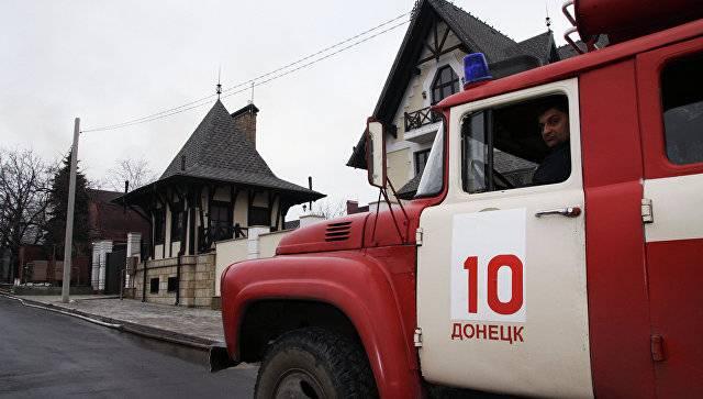 Пожар в Донецке