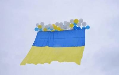 В оккупированный Луганск отправили флаг Украины (Фото)