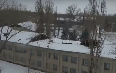В сети появилось видео разрушенной кровли макеевского ПТУ
