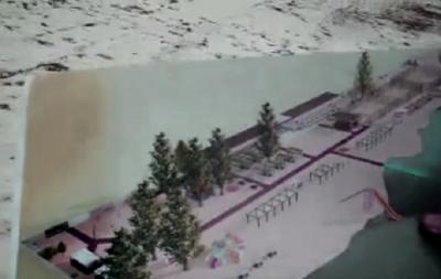 В Рубежном реконструируют еще один пляж. Как он будет выглядеть (видео)