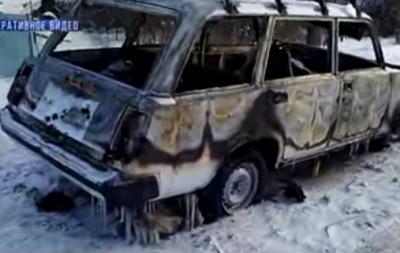 В Донецке сожгли автомобиль (видео)