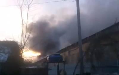 В Донецке горел завод: опубликовано видео