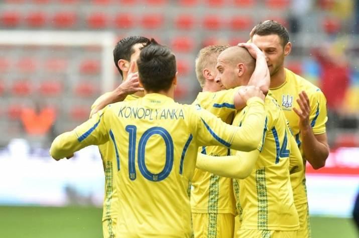 Сборная Украины попала в ТОП-30 рейтинга ФИФА