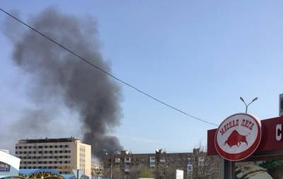 В центре Донецка пожар (фото)