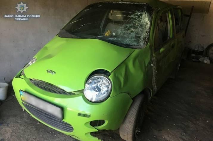 На Луганщине перевернулся автомобиль