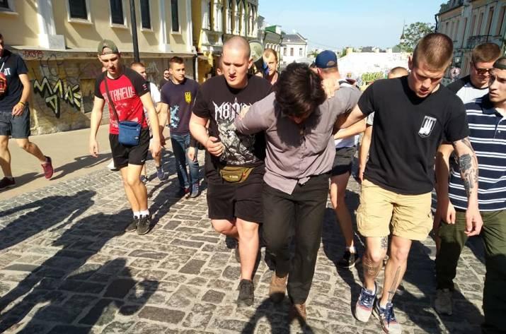 В Киеве активисты задержали бразильского наемника
