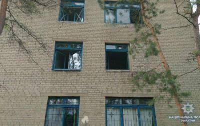 В прифронтовом Торецке в результате обстрелов пострадали здания противотуберкулёзного и психоневрологического диспансеров.