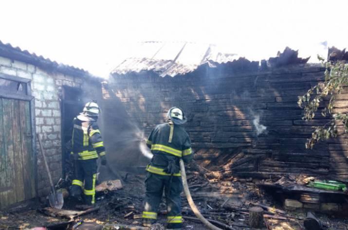 Вчера, 10 июля, в Попасной из-за баловства детей на одном из частных дворов горела летняя кухня.