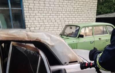В Троицком сгорело авто