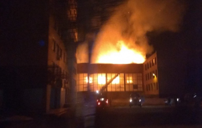 ЧП в Донецке: опубликовано видео масштабного пожара в горном техникуме