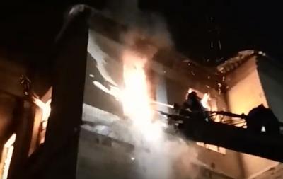 В Лисичанске произошел пожар (видео)