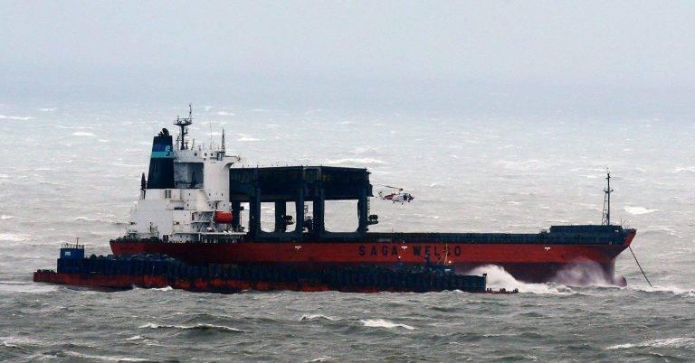 Грузовой корабль налетел набаржу впроливе Ла-Манш впроцессе шторма Ангус