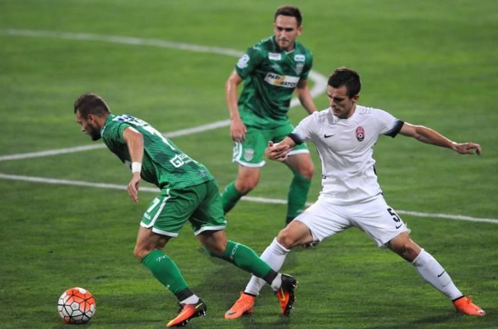 «Заря» едва непроиграла «Карпатам» в16 туре чемпионате государства Украины