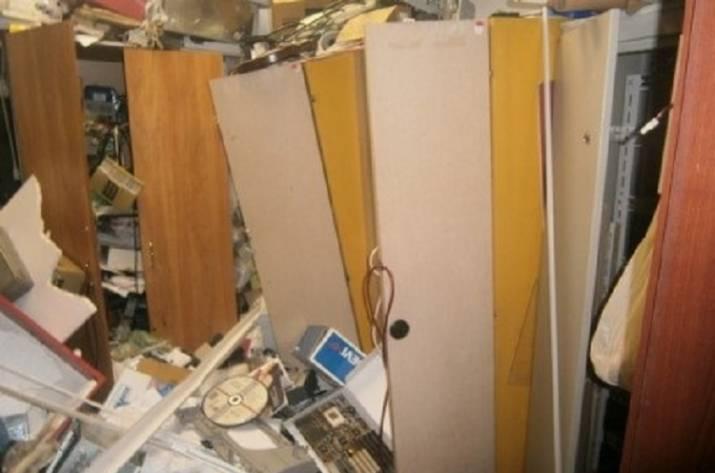 Неизвестные разгромили кабинет в коммерческом центре столицы Украины