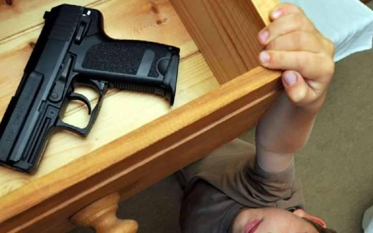 ВХмельницкой обл. двухлетний ребенок выстрелил себе вглаз