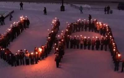 Факельное шествие Лисичанск