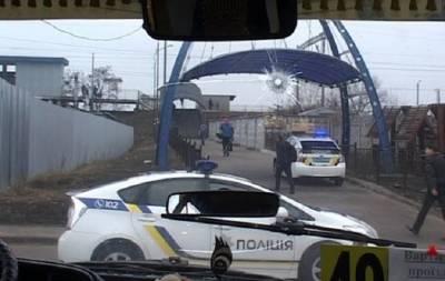 Угон маршрутки и стрельба Киев