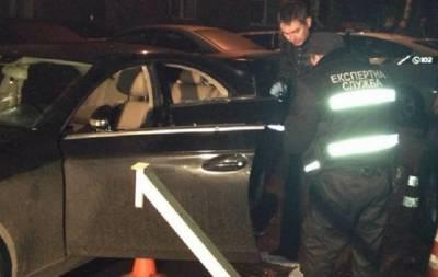 Расстреляли автомобиль бизнесмена в Киеве