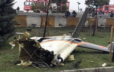 В Стамбуле разбился вертолет с россиянами на борту