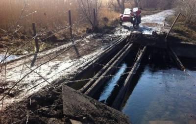 Боевики взорвали мост в Золотом