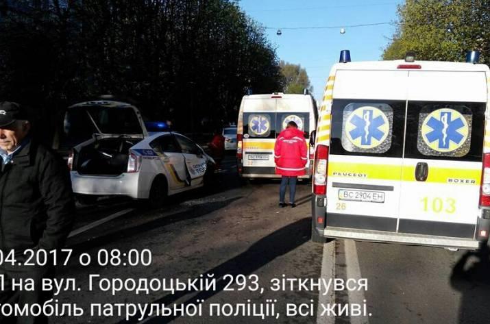 ДТП во Львове полиция