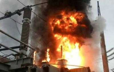 Пожар на подстанции в Северодонецке