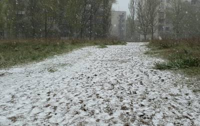 Апрельский снег в Рубежном