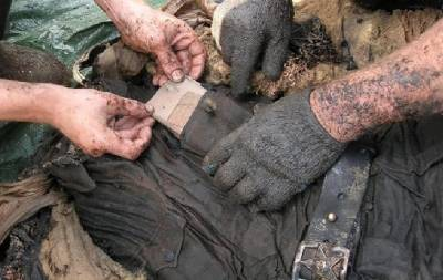 Найдены останки советских солдат