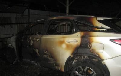 В Северодонецке сгорели два автомобиля