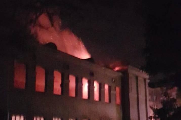 Пожар произошел в помещении минобороны Украины вОдессе