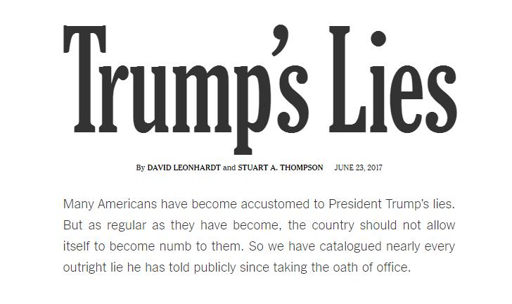Trumps lies